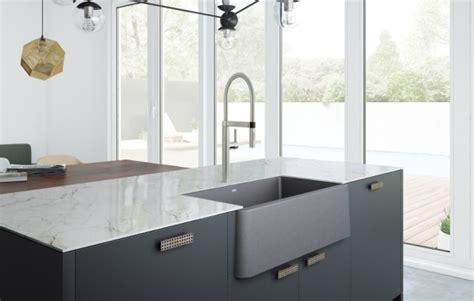 Granite Composite Apron Sink by Ikon 33 Apron Blanco