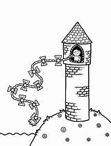 Tower Coloring Pages Rapunzel Drawing Fairy Tales Trophy 1st Place Colour Colouring Drawings Activity Activities Template Paintingvalley Sketch Fun Books sketch template