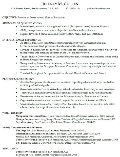 Resume Objective For College Students by Resume Sles For Students Sle Resume For College