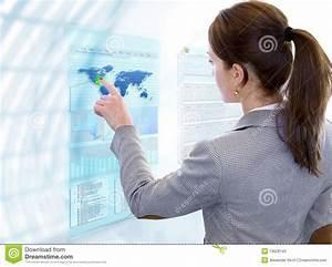 Futuristic Multi Touch Screen Stock Photos - Image: 19628143