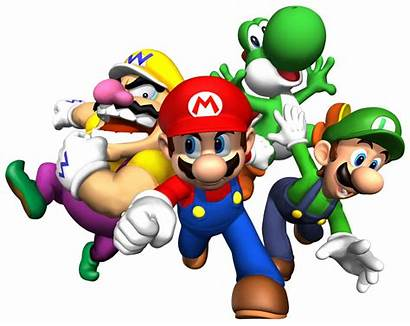 Mario Super Clip Clipart Bros Brothers Characters