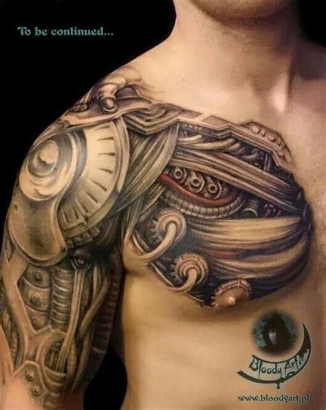 asombrosos tatuajes biomecanicos tatuajes