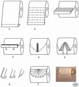 Toilet Paper Origami Pleat Fold