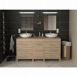 meuble sous lavabo achat vente meuble sous lavabo pas With meuble salle de bain double vasque 180 cm