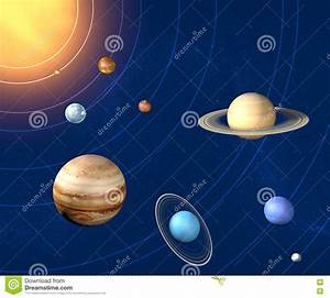 Solar System Planets Diameter Stock Illustration - Image ...