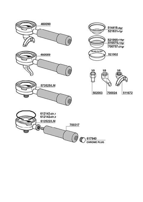 Vibiemme Domobar Super Portafilters and Filter Baskets   Espresso Machine Company