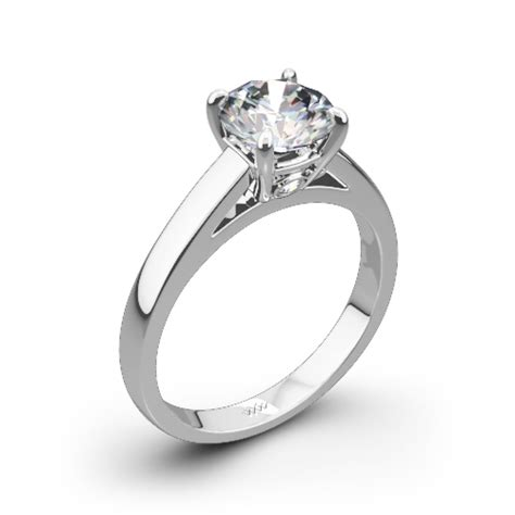 flush fit cathedral style diamond ring 1208