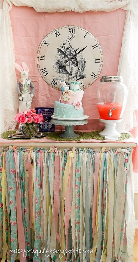 shabby chic tea decorations vintage shabby chic mad hatter tea party miss frugal fancy pants