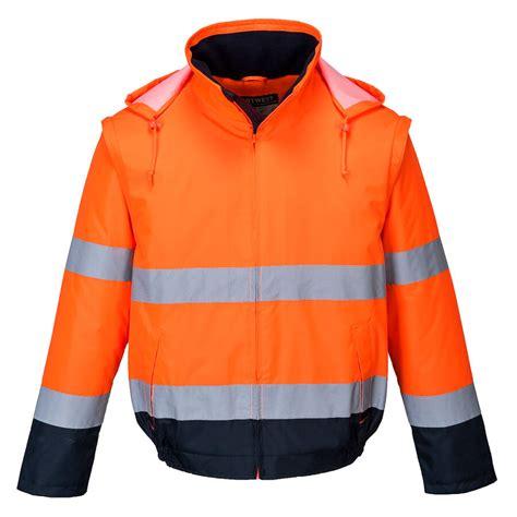 Portwest augstas redzamības siltā jaka C464 -2-1 - Augstas redzamības jakas - Darba apģērbu ...