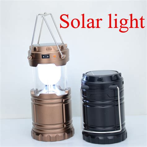 2015 newest 6 led solar cing l outdoor lighting portable c tent l rechargeable