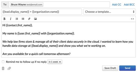 crm ready sales email templates   step