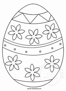 printable easter egg template easter template With easter picture templates