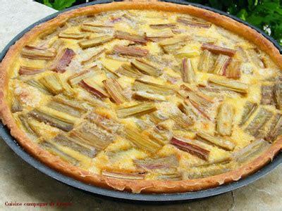 cuisine et cagne de tarte du nord à la rhubarbe