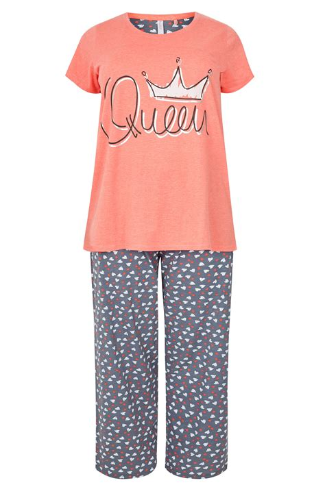 c add to container with templates plus size coral queen pyjama set sizes 16 to 36