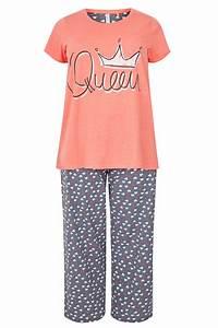 Bon Price Mode : ensemble pyjama corail 39 queen 39 grande taille 44 64 ~ Eleganceandgraceweddings.com Haus und Dekorationen