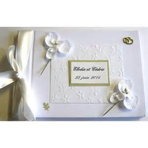 livre or mariage livre d 39 or mariage or et orchidées blanches atelier du livre dor