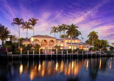 million newly listed waterfront mansion  boca raton fl homes   rich
