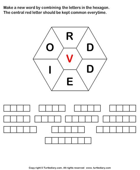 Make Words Using Letters R D D E I O V Worksheet  Turtle Diary