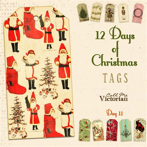 days  christmas tags day  call  victorian