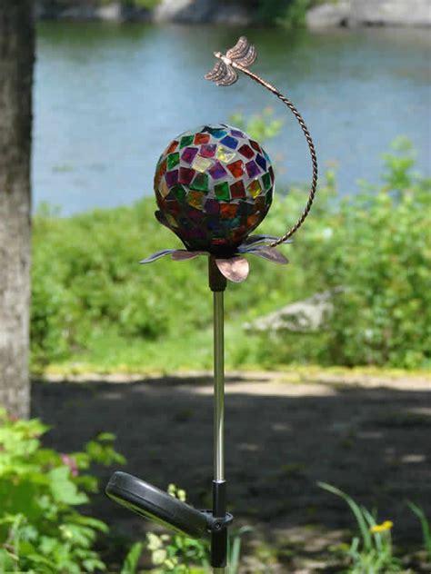 Solar Mosaic Stake  Dragonfly  Mondus Distinction Garden