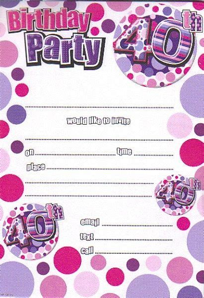 40th Birthday Party Invitations Wording Birthday party