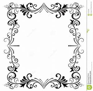Cadre Noir Et Blanc : cadre noir et blanc illustration de vecteur illustration du boucl 31053486 ~ Teatrodelosmanantiales.com Idées de Décoration
