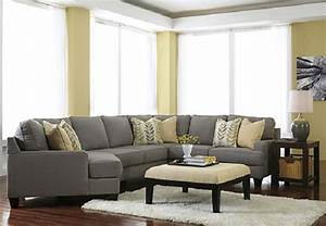 Ashley furniture chamberly alloy collection 24302 cuddler for 76 sectional sofa