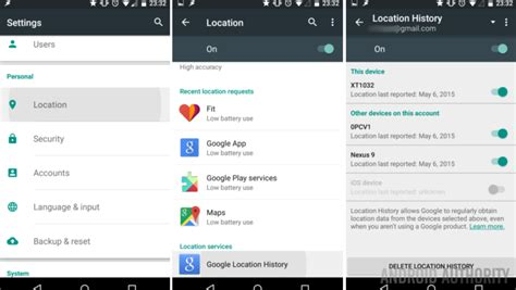 how to location on android how to manage your location history android