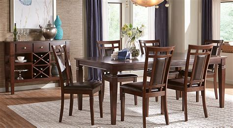 rooms to go dining room sets riverdale cherry 5 pc rectangle dining room dining room sets dark wood