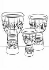 Djembe Drums Coloring Colorare Instruments Ausmalbilder Sheet Coloriage Bongos Trommeln Colorear Zum Disegni Printable Dibujos Tamburo Dessin Ausmalbild Dibujo Disegno sketch template