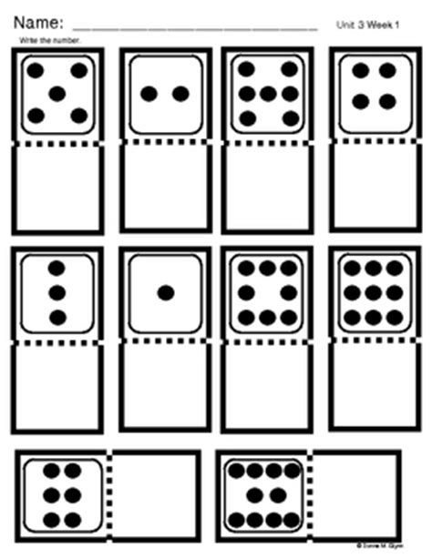 domino number freebie by donna glynn kinderglynn tpt