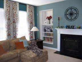 teal and brown living room ideas