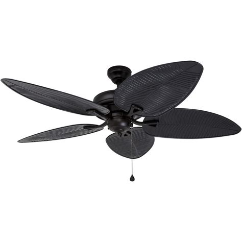 harbor breeze outdoor ceiling fan shop harbor breeze pacific grove 52 in oil rubbed bronze