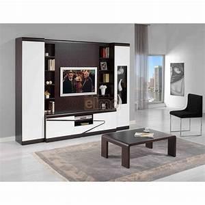Meuble Tv Living : living meuble tv wenge laque aquin meubles elmo ~ Teatrodelosmanantiales.com Idées de Décoration