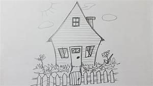 comment dessiner une maison facile youtube With apprendre a dessiner une maison