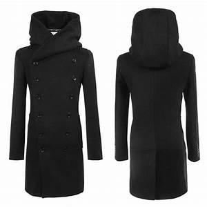 Trench Coat Homme Long : 2018 new 2015 mens long trench coat veste homme double ~ Nature-et-papiers.com Idées de Décoration