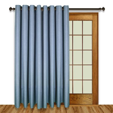 glasgow grommet top patio panel with wand