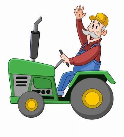 Tractor Clipart Farmer Farm Transparent Cliparts Pngitem