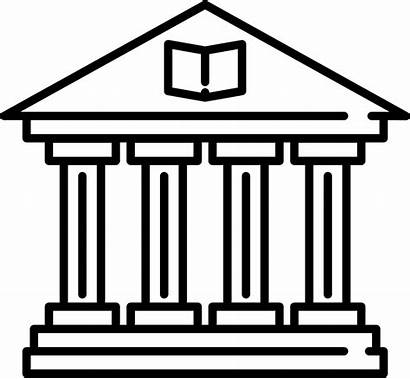 Library Building Icon Clipart Temple Svg University