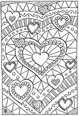 Coloring Adult Pages Printable Hearts Sheets Quilt Adults Designs Patterns Heart Books Healing sketch template