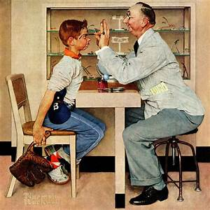Marmont Hill 39Eye Doctor39 By Norman Rockwell Painting