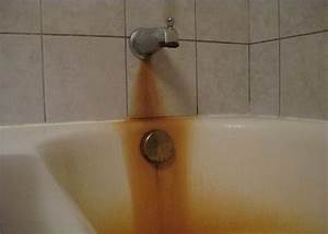How to remove rust stains from tub hometalk for How to clean bathroom tub