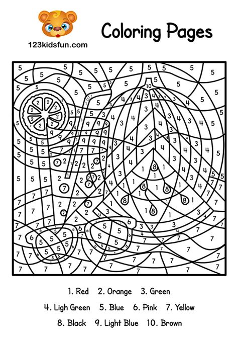 Color By Number Summer Coloring Pages for Kids Printable ...