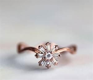 rose gold with diamonds vintage wedding ring onewedcom With vintage wedding rings rose gold