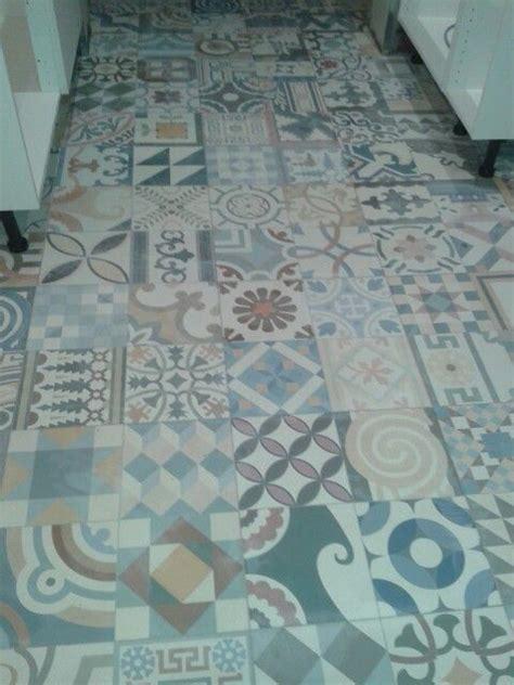 mixed moroccan kitchen floor tiles garish decor
