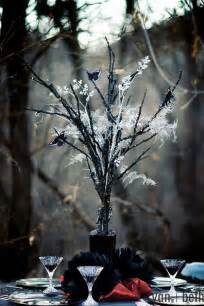 Black Tabletop Christmas Tree by 5 Whimsical Spooky Halloween Wedding Ideas For Autumn