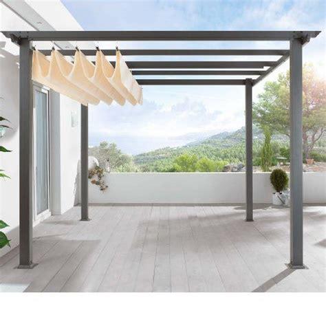 pergola with canvas shade screened porch patio