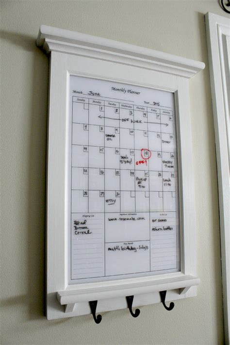 kitchen calendar organizer wall decor white erase calendar from rozemake on etsy 3307