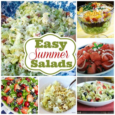 summer cing food ideas 6 easy summer salad recipes