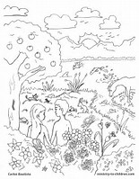 HD Wallpapers Coloring Page God Created The World